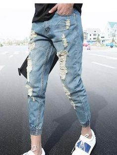Jean's For Men's: High Quality Male Hip Hop Baggy Jeans