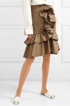 TOME   Mermaid ruffled cotton-poplin skirt   NET-A-PORTER.COM