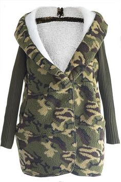 Cupshe Death Valley Camouflage Hooded Coat