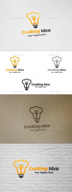 Cooking Idea - Logo Template: Object Logo Design Template created by martinjamez. Typo Logo, Logo Branding, Logo Chef, Logo Minimalista, Kitchen Logo, Bakery Logo, Best Logo Design, Beauty Logo, Logo Food