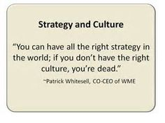 Strategy and Culture