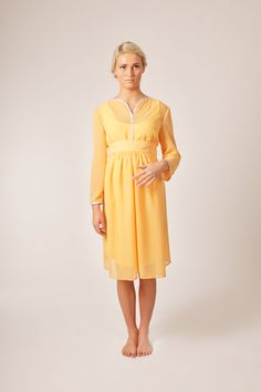 Yellow Maternity Vintage Dress. €99.00, via Etsy.