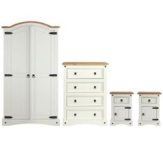 Buy Collection Puerto Rico 4 Piece Bedroom Package - White /Pine at Argos.co.uk - Your Online Shop for Bedroom suites and packages, Bedroom furniture, Home and garden.