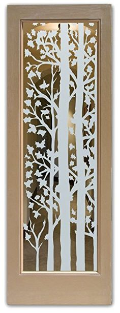 Sans Soucie Front Glass Entry Door - Forest Trees Positive