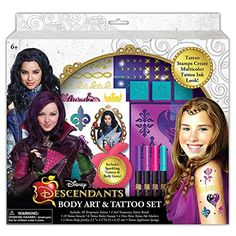 Disney Descendants Body Art & Tattoo Set @ niftywarehouse.com #NiftyWarehouse #Disney #DisneyMovies #Animated #Film #DisneyFilms #DisneyCartoons #Kids #Cartoons