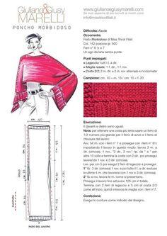 Der Neuen : Poncho Morbidoso We Openen H Kleur - Diy Crafts Loom Knitting, Knitting Stitches, Knitting Designs, Crochet Poncho, Filet Crochet, Knitting Patterns, Sewing Patterns, Crochet Patterns, Love Sewing