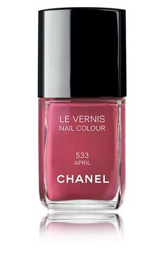 Obsessed with this Chanel nail polish... the color is a rose red with pink undertones. Love it.