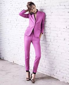 Women's Fashion: Rose Red Suits