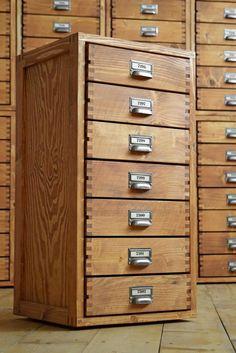 Schubladenschrank IndustrieDesign Loft Vintage Holz Fabrik Werkstattschrank Alt | eBay