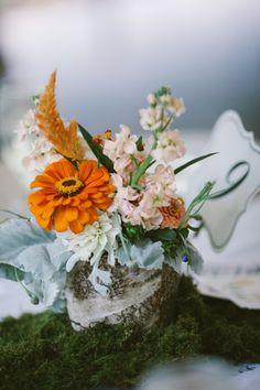 Blanton House Brunch Wedding:   orange with pale blue
