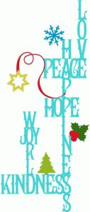 Silhouette Design Store - View Design #36704: holiday word collage