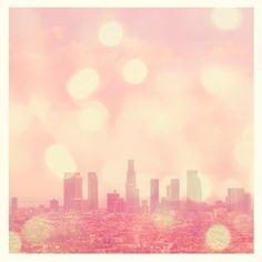 hazy LA air looks dreamy...