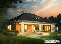 If you planning to have small house , you must see this Single storey inspirational house + plans Modern Bungalow House, Cottage Style House Plans, Bungalow House Plans, Family House Plans, Modern House Plans, Single Storey House Plans, Story House, Facade House, House Layouts