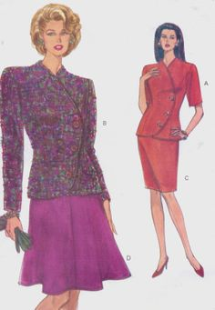 90s Very Easy Very Vogue Sewing Pattern 8193 Womens by CloesCloset, $10.00