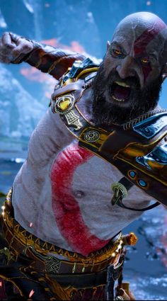 God of war art Kratos God Of War, Video Game Art, Video Games, Arte Assassins Creed, God Of War Series, Gaming Wallpapers, Marvel Wallpaper, Video Game Characters, Mortal Kombat