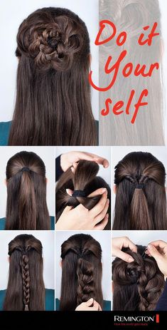 Nothing says elegance and style like this pink hairstyle give it a try! Easy Hairstyles elegance give hairstyle Pink Style Elegant Hairstyles, Braided Hairstyles, Cool Hairstyles, Curly Hair Styles, Medium Hair Styles, Hair Styles For Long Hair For School, Rose Hair, Pink Hair, Rose Bun