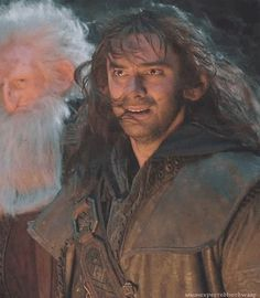 When Bilbo was captured...aww...you can tell that Kili and Fili really bonded with him