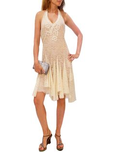 BLUE GIRL CREAM LACE DRESS. 40/M  $150 http://www.boutiqueon57.com/products/blue-girl-cream-lace-dress-40