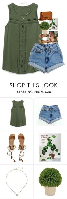 """green-color challenge-day 4"" by granola24 ❤ liked on Polyvore featuring Gap, Levi's, Hollister Co., Kendra Scott, Chloé and nolascolorchallenge"