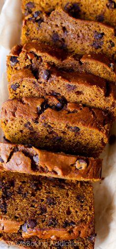 Pumpkin chocolate chip bread #delicious #recipe #cake #desserts #dessertrecipes #yummy #delicious #food #sweet