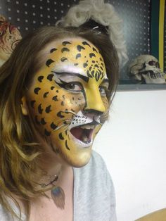 Rainofcolors.nl - Leopard Facepaint