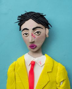 Photographs rendered in Play-Doh
