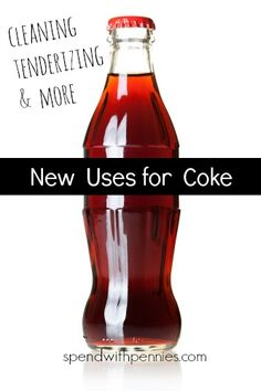 New Uses for Coke (and other colas)! - Spend With Pennies Cleaning Recipes, Cleaning Hacks, Most Pinned Recipes, Spend With Pennies, New Uses, Cleaners Homemade, Refreshing Drinks, Things To Know, Coke