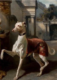 Love vintage dog paintings.