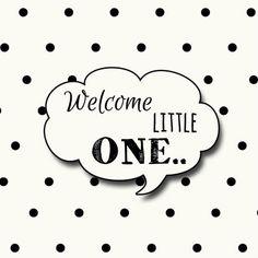 Lief geboortekaartje in cremekleur en zwarte stipjes, verkrijgbaar bij #kaartje2go voor €1,89