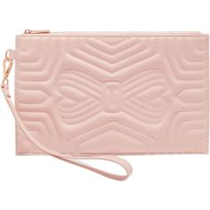545f24d37c5 Buy Light Pink Ted Baker Verda Quilted Leather Wristlet Pouch from our  Handbags, Bags & Purses range at John Lewis & Partners.