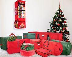 ZOBER Christmas Tree Storage Bag Artificial up to 7 Christmas Tree Organizer UnAssembled Trees Sleek Zipper Also Accommodates Holiday Inflatables 52 L 30 W 30 D Green * Be sure to check out this awesome product-affiliate link.