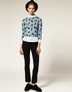 Enlarge ASOS Sweater in Horse Print