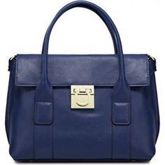 Cudna torebka skórzana niebieski