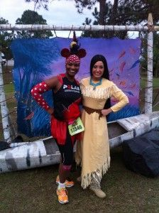 Love the opportunity to take photos with characters on the race course of Disney Princess Half-marathon!