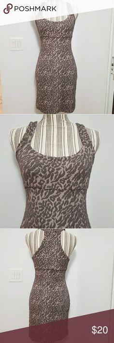 Free People dress Free People leopard print dress. Size S Free People Dresses Mini