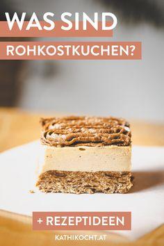 Rohkostkuchen oder auch bekannt als Raw Cakes sind der letzte Schrei in der veganen Küche. Worum es sich handelt und wie du sie ganz einfach selbst herstellen kannst erfährst du hier! Vegan Cake, Dessert, Tiramisu, Ethnic Recipes, Rock, Vegetarian Recipes, Pies, Vegan Life, Healthy Meals