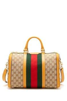 Gucci Canvas Logo Trim Satchel by Designers We Love on @HauteLook