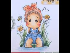 Lacy Tilda. Step by step instructions for Copic Coloring Card Kit by HeathersHobbieHaven.