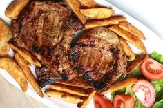 Pork Chops with Barbecue Sauce World Recipes, Diet Recipes, Cooking Recipes, Barbecue Sauce, Easy Healthy Dinners, Food Design, Pork Chops, Kai, Breakfast Recipes