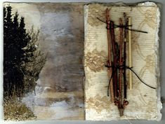 Artist book pages by Kim Henkle