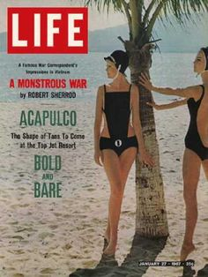 vintage Life magazine 1966- Bathing suits in fashion at Acapulco