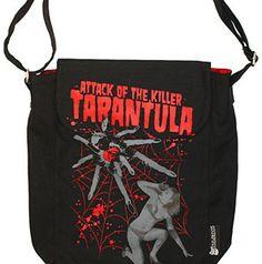 roller derby bag tarantula tote purse over the shoulder