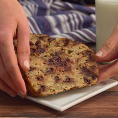 This chocolate chip banana bread is so delicious, you'd never know there was a veggie hiding inside.