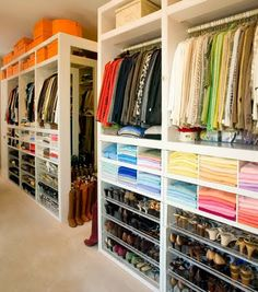 Lovely closet with LOTS of storage (and a pile of Hermes boxes)