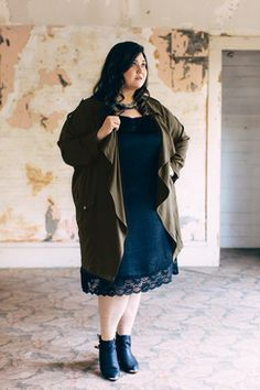 Seattle Spring Green Twill Jacket ★ plus size fashion // Shop www.livingdoll.la