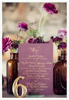 purple and brown bottles, so chic