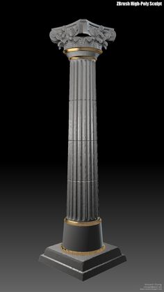 This Corinthian-style Greek column is the first of a set of props for an environment side project assembled in Columns Decor, Porch Columns, Interior Columns, Column Design, Floor Design, Wall Design, House Pillars, Aesthetic Objects, House Architecture Styles