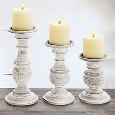 Our Candle Holders are perfect for Pillar Candles! This Candle Stick set is perfect for any room! For more décor ideas visit, Decor Steals