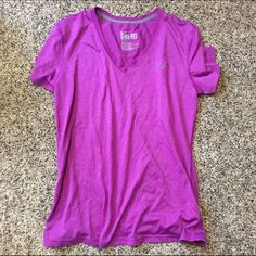 Purple Nike Dry Fit Tshirt Excellent condition. Worn once. No stains or rips. Ships Immediately! Nike Tops
