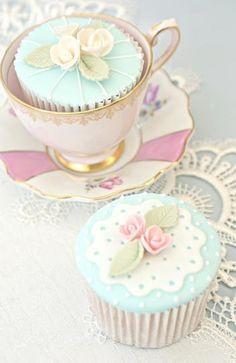 tea party cupcakes | =Invitation Only Tea Party= | Pinterest)